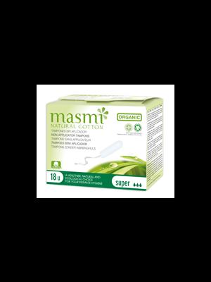 MONATSHYGIENE                 TAMPONS                     -MASMI BIO 100%BAUMWOLLE  EINZELN SUPER MITTEL