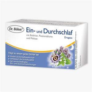 DR.BOEHM                      EIN- U.DURCHSCHLAF DRAGEES  M.BALDRIAN,PASSIONSBLUME  U.MELISSE
